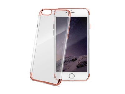 Cover TPU serie Electroplate Rosa